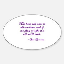 Here & Now Oval Decal