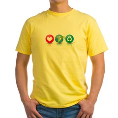 Love, Protect, Recycle Yellow T-Shirt