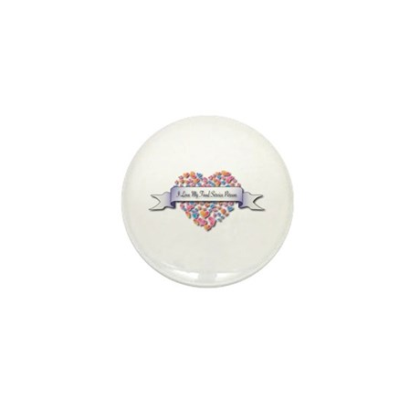 Love My Food Service Person Mini Button (100 pack)