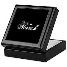 Due In March - Chopin Script Keepsake Box