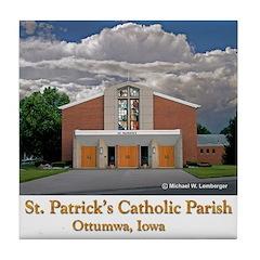St. Patrick's Church Tile Coaster