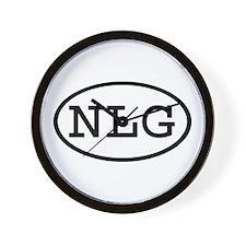 NLG Oval Wall Clock