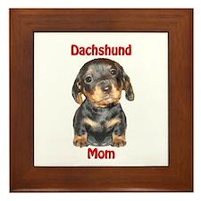 Dachshund Mom Puppy Framed Tile