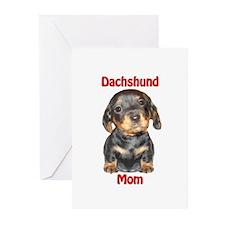 Dachshund Mom Puppy Greeting Cards (Pk of 20)