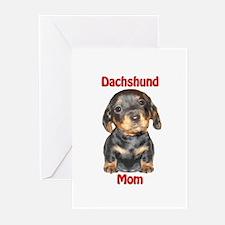 Dachshund Mom Puppy Greeting Cards (Pk of 10)