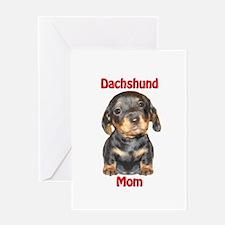 Dachshund Mom Puppy Greeting Card