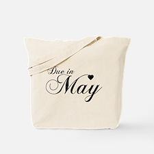 Due In May - Chopin Script Tote Bag