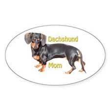 Dachshund Mom Oval Decal