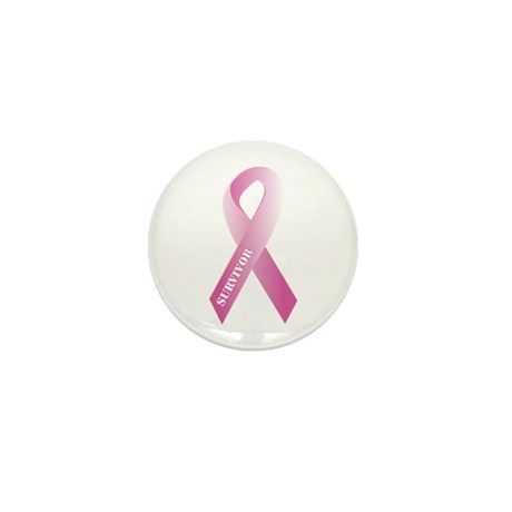 Pink Ribbon Survivor Mini Button (100 pack)