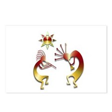 Two Kokopelli #107 Postcards (Package of 8)