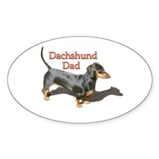 Dachshund Dad Oval Decal