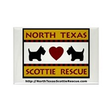 Cute Scottish terrier rescue Rectangle Magnet (100 pack)