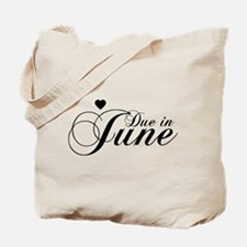 Due In June - Chopin Script Tote Bag
