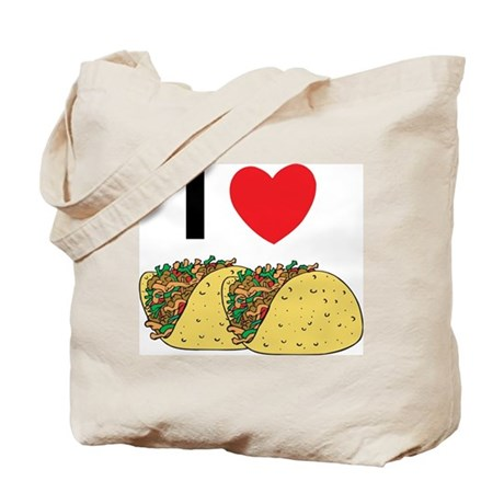I Love Tacos Tote Bag