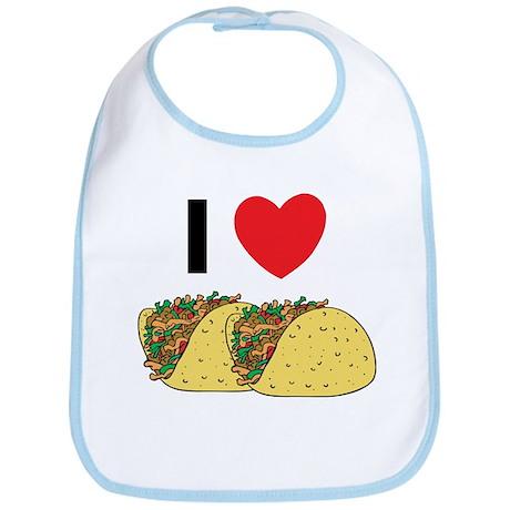 I Love Tacos Bib