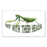 Praying Mantis Rectangle Sticker