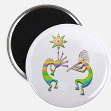 Two Kokopelli #110 Magnet