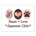 Peace Love Japanese Chin Small Poster