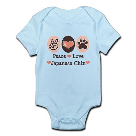 Peace Love Japanese Chin Infant Bodysuit