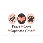 Peace Love Japanese Chin Postcards (Package of 8)
