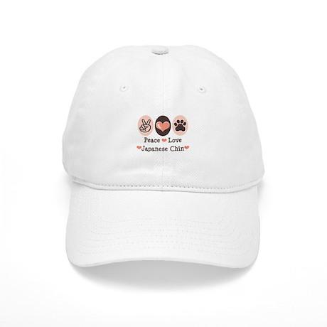 Peace Love Japanese Chin Cap