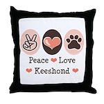 Peace Love Keeshond Throw Pillow