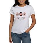 Peace Love Keeshond Women's T-Shirt