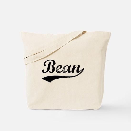 Vintage Bean (Black) Tote Bag