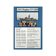 USS Bagley Ship's Awards Rectangle Magnet