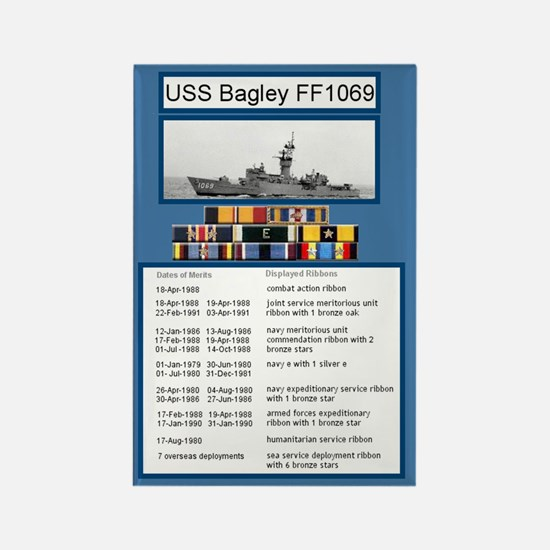 USS Bagley Ship's Awards Rectangle Magnet