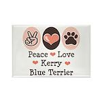 Peace Love Kerry Blue Terrier Rectangle Magnet (10