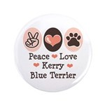 Peace Love Kerry Blue Terrier 3.5