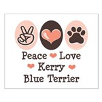 Peace Love Kerry Blue Terrier Small Poster