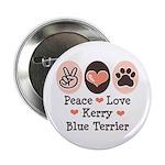 Peace Love Kerry Blue Terrier 2.25