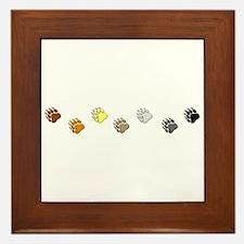 BEAR PRIDE BEAR PAWS/HORIZONTAL Framed Tile