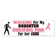 Walking/Sweating Pink 1 (Daughter) Bumper Sticker