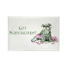 Got Schnauzers Dog Art Rectangle Magnet (100 pack)