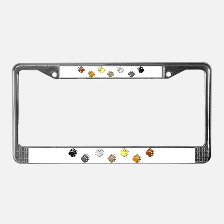 BEAR PRIDE BEAR PAWS/HORIZONTAL License Plate Fram