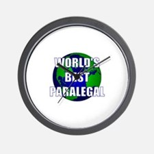 World's Best Paralegal Wall Clock