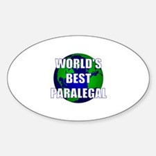World's Best Paralegal Oval Decal