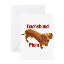Doxie Mom 2 Greeting Card
