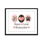 Peace Love Komondor Framed Panel Print