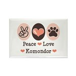 Peace Love Komondor Rectangle Magnet (100 pack)