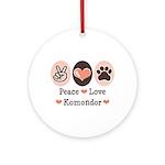 Peace Love Komondor Ornament (Round)