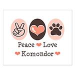 Peace Love Komondor Small Poster