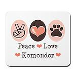 Peace Love Komondor Mousepad