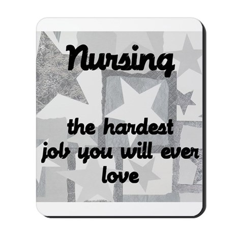 Hardest job you love Mousepad