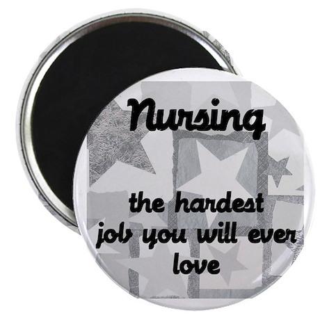"""Hardest job you love 2.25"""" Magnet (100 pack)"""