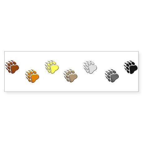 BEAR PRIDE BEAR PAWS/HORIZONTAL Bumper Sticker