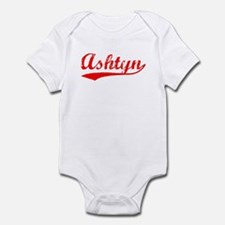 Vintage Ashtyn (Red) Infant Bodysuit